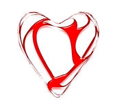 Coração torcido e néon Fotos de Stock Royalty Free