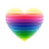 Coração transparente Foto de Stock Royalty Free
