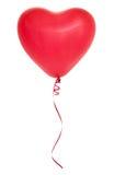 Coração vermelho balão dado forma Fotografia de Stock Royalty Free
