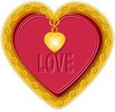 Corazón 1 de la tarjeta del día de San Valentín Imagen de archivo