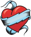 Corazón 2 de la tarjeta del día de San Valentín Imagenes de archivo