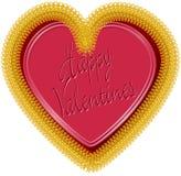 Corazón 2 de la tarjeta del día de San Valentín Fotos de archivo libres de regalías