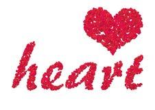 Corazón 2 del pétalo de Rose Foto de archivo