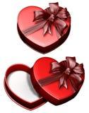 Corazón 2 del rectángulo de regalo Foto de archivo libre de regalías