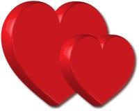 corazón 3D Imágenes de archivo libres de regalías