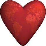 Corazón 3D del mundo Imagen de archivo