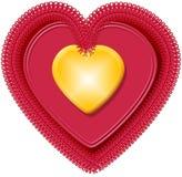 Corazón 4 de la tarjeta del día de San Valentín Imagen de archivo libre de regalías