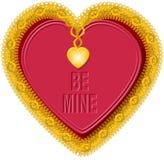 Corazón 5 de la tarjeta del día de San Valentín Imagenes de archivo
