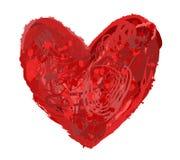 Corazón abstracto Fotos de archivo