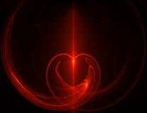 Corazón abstracto Imagenes de archivo