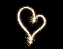 Corazón abstracto chispeante Imagen de archivo libre de regalías