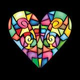 Corazón abstracto colorido Imagenes de archivo