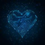 Corazón abstracto colorido de la tecnología. Foto de archivo