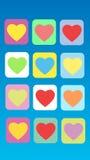 Corazón abstracto colorido del fondo Imagen de archivo