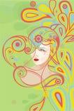 Corazón abstracto con la mujer Fotografía de archivo libre de regalías