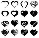 Corazón abstracto. Conjunto de ilustraciones del vector. ilustración del vector