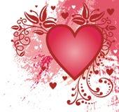 Corazón abstracto de la tarjeta del día de San Valentín Foto de archivo