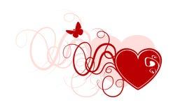 Corazón abstracto de la tarjeta del día de San Valentín Fotos de archivo libres de regalías