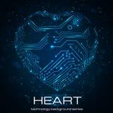 Corazón abstracto de la tecnología. Fotografía de archivo libre de regalías