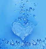 Corazón abstracto del agua Fotografía de archivo libre de regalías