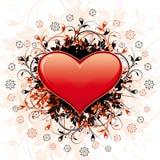Corazón abstracto del día de tarjeta del día de San Valentín Fotografía de archivo libre de regalías