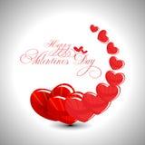 Fondo abstracto del día de tarjetas del día de San Valentín Fotos de archivo libres de regalías