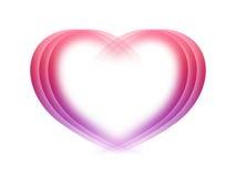 Corazón abstracto del fondo de la tarjeta del día de San Valentín ilustración del vector