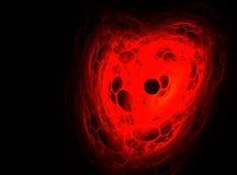 Corazón abstracto del fractal Imagen de archivo