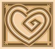 Corazón abstracto del vector del vintage Libre Illustration