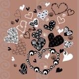 Corazón abstracto en el fondo Imagenes de archivo