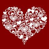 Corazón abstracto hecho de pequeños corazones Imagen de archivo