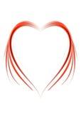 Corazón abstracto rojo Fotos de archivo