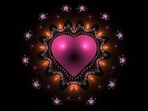 Corazón abstracto rosado Foto de archivo libre de regalías