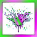 Corazón abstracto si colores brillantes de la pendiente Concepto apenado del corazón ilustración del vector
