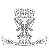 Corazón adornado de la belleza para el día de tarjetas del día de San Valentín Stock de ilustración