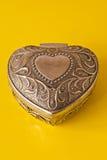 corazón adornado de plata Imagenes de archivo