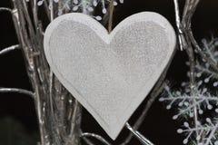 Corazón adornado para la Navidad Fotos de archivo libres de regalías