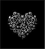 Corazón afiligranado ilustración del vector
