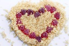 Corazón aislado del día de tarjetas del día de San Valentín Fotografía de archivo