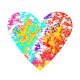 Corazón aislado en blanco Diseño para la invitación de boda, tarjeta de la tarjeta del día de San Valentín Imagen de archivo