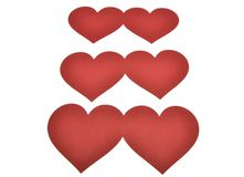 Corazón aislado en el fondo blanco imagen de archivo