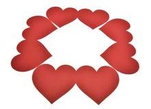 Corazón aislado en el fondo blanco fotografía de archivo