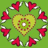 Corazón al fondo del día de tarjeta del día de San Valentín Fotos de archivo