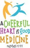 Corazón alegre Foto de archivo libre de regalías