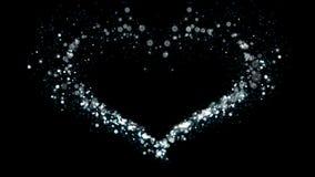 Corazón Alpha Channel Flow Particles Snow ilustración del vector