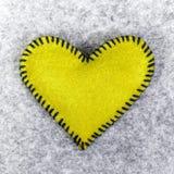 Corazón amarillo Fotografía de archivo libre de regalías