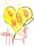 Corazón amarillo Imagen de archivo libre de regalías