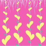 Corazón amarillo con el cordón Fotografía de archivo libre de regalías