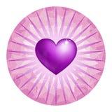 Corazón amatistino Imagen de archivo libre de regalías
