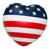 Corazón americano foto de archivo